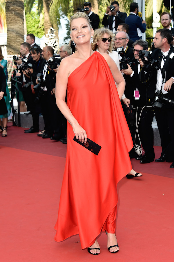 Kate Moss red dress cannes 2016 getty