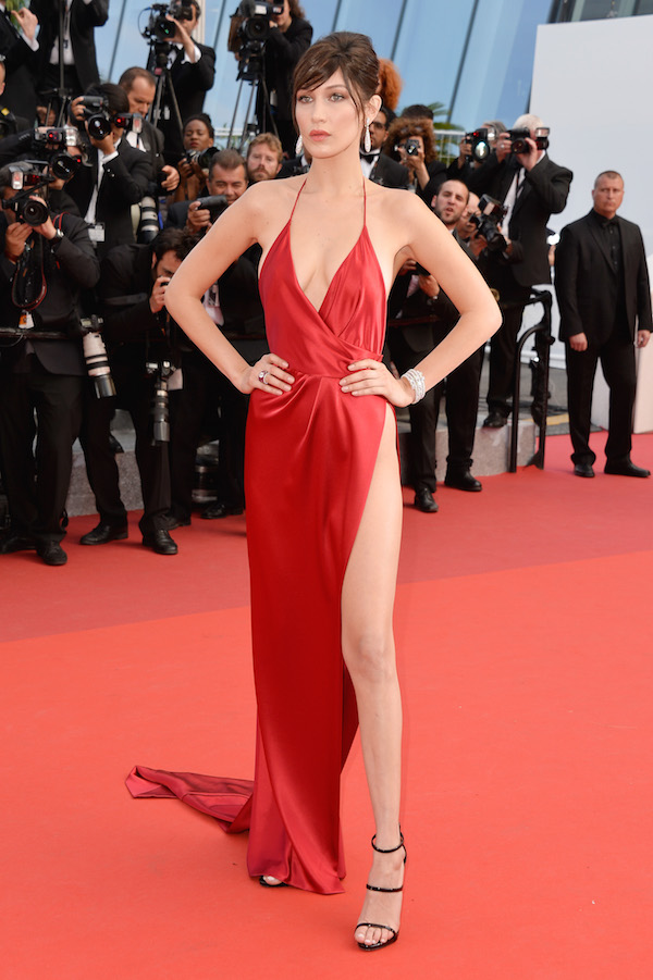 Bella Hadid red dress cannes 2016 Getty