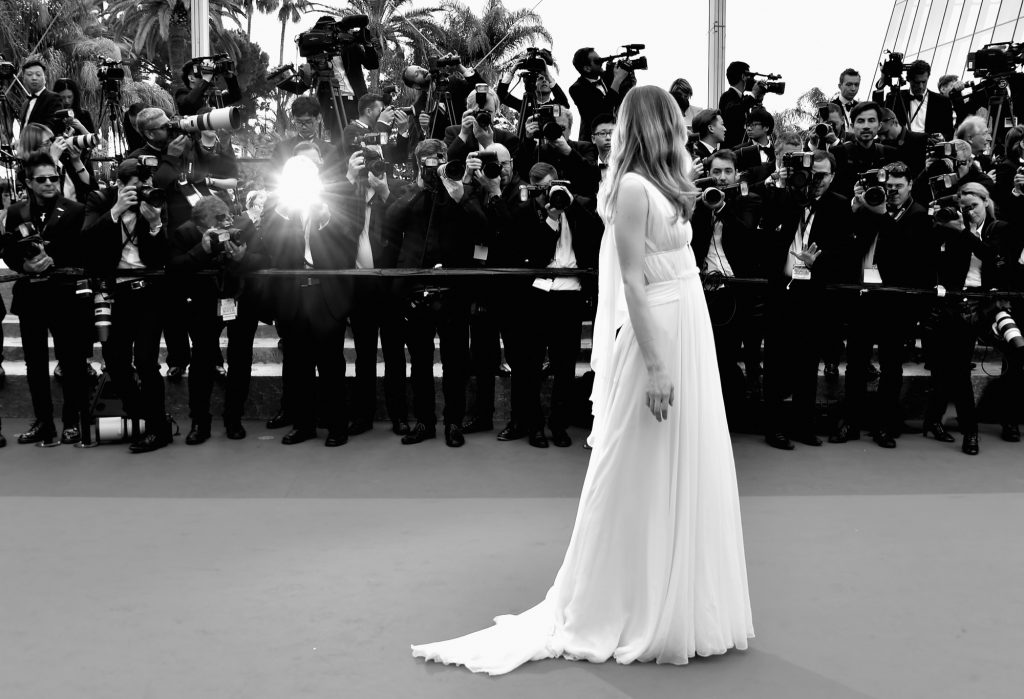 CANNES, FRANCE - MAY 22: (EDITORS NOTE: Image has been converted to black and white.) Actress Erin Moriarty attends the closing ceremony of the 69th annual Cannes Film Festival at the Palais des Festivals on May 22, 2016 in Cannes, France. (Photo by Pascal Le Segretain/Getty Images)