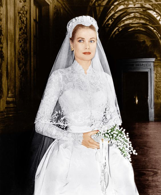 grace kelly pin wedding