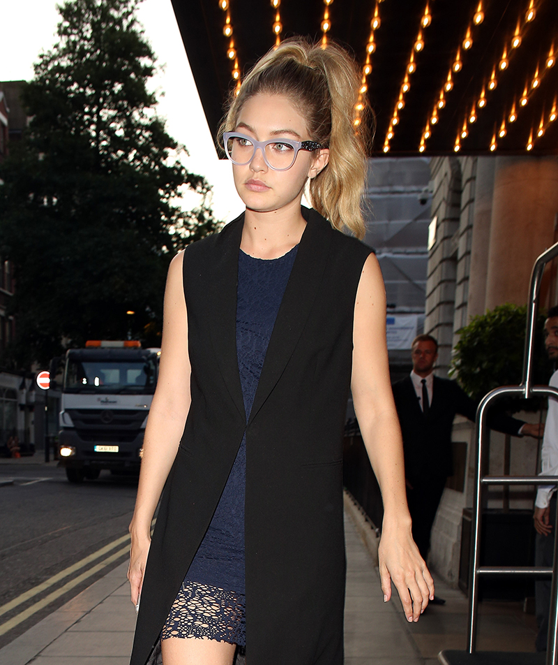 Gigi hadid wearing glasses