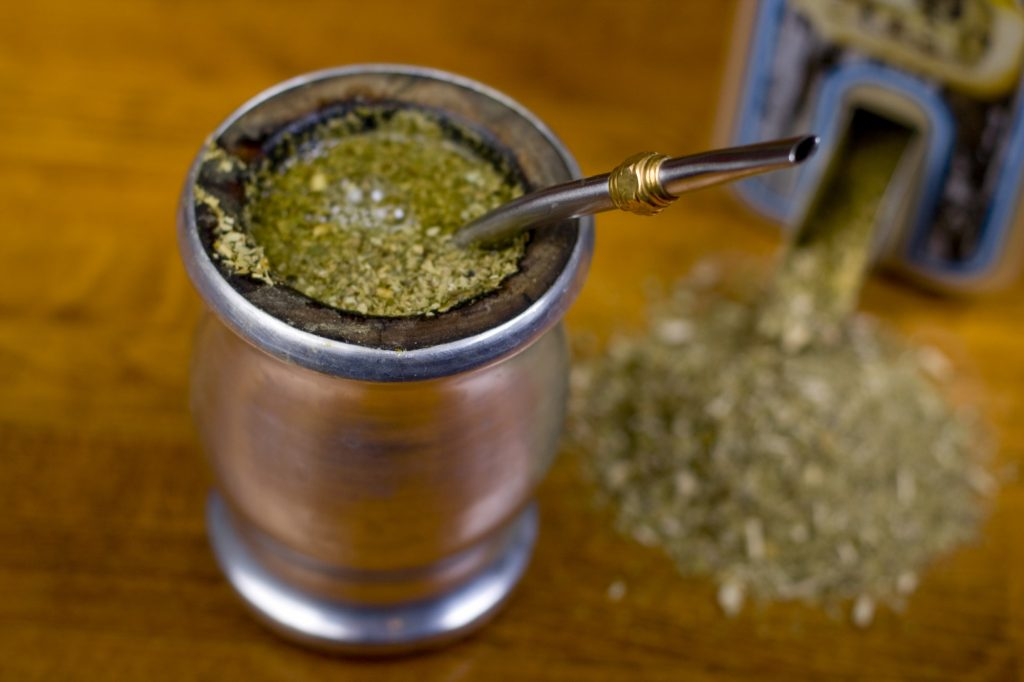 Traditional yerba mate tea popular in latin america