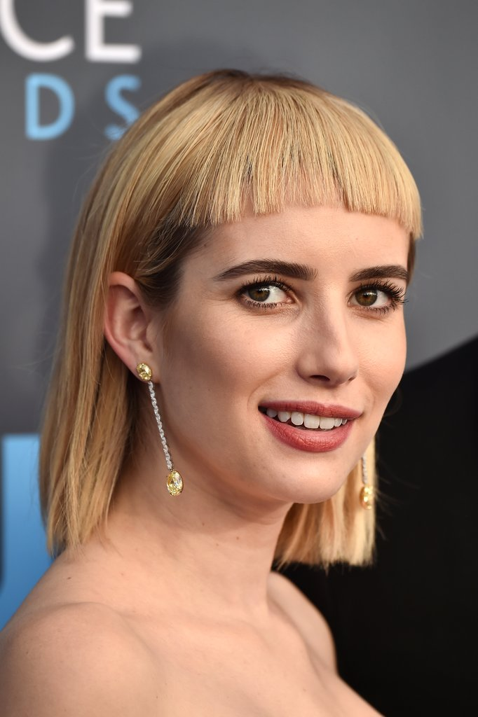 Emma Roberts bangs Critics Choice Awards