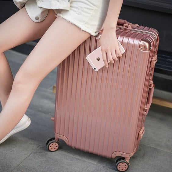 Rose gold luggage bag Mawadoo