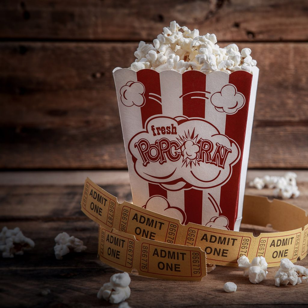 cinema popcorn tickets movie