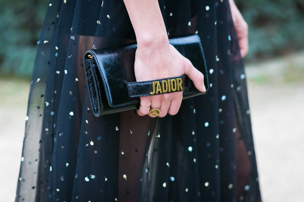 Aymeline Valade Street Style Dior Clutch Bag