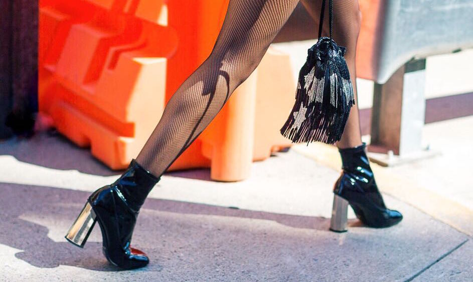 Street Style Patent Boots Silver Heels