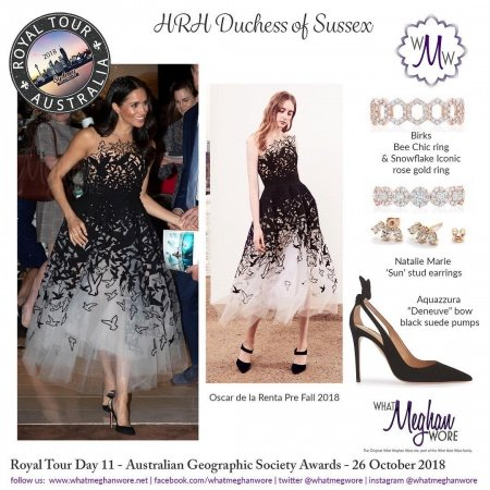حساب الانستقرام الذي يقدم لك كل تفاصيل أزياء ميغان ماركل Savoir Flair Al Arabiya